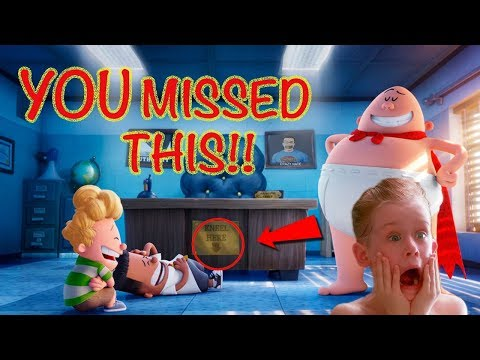 Captain Underpants Easter Eggs & Everything You Missed