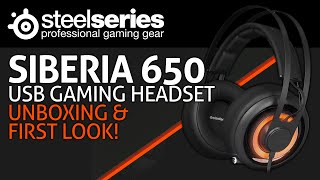 SteelSeries Siberia 650 USB Gaming Headset Unboxing & First Look!