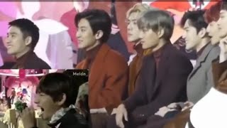 EXO reaction whenever BTS appear on the screen
