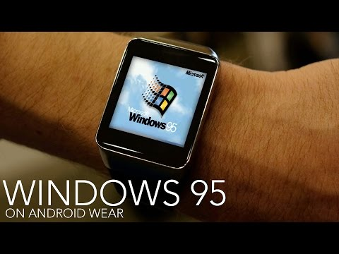 Windows 95 sur une Gear Live de Samsung