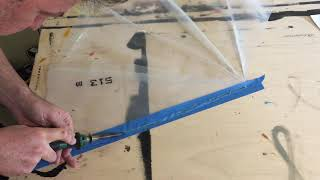 Joining 2 plastic sheets with heat (hdpe film) with soldering iron