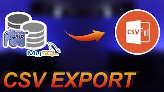 PHP Tutorial: Export MySQL Data To CSV File