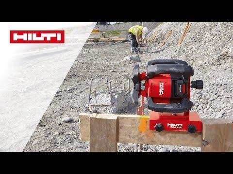 DEMO dei PR 30-HVS A12 / PR 300-HV2S Laser rotanti - Allineamento automatico di assi di costruzione