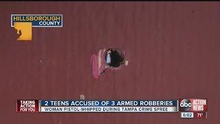 Teens accused of two armed robberies
