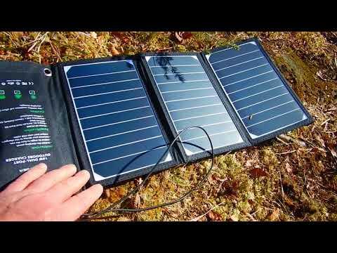 Outdoor Stromversorgung Teil 2  Solarenergie im Rucksack  Der Power Film