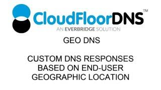 Using Geographic (GEO) DNS to deliver custom content