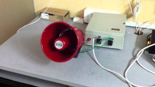 preview picture of video 'Response Alarms Visonic Burglar Alarm Integration with Industrial Siren'