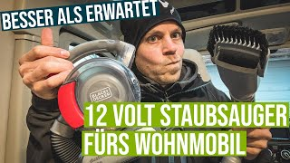 12 Volt Staubsauger fürs Wohnmobil - Der Black & Decker Dustbuster im Test