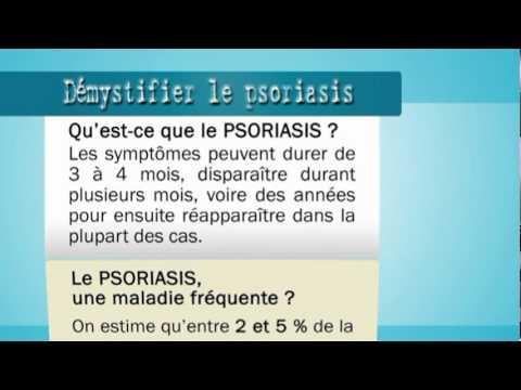 La liste du traitement contre le psoriasis