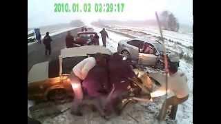 ДТП на трассе Омск Новосибирск