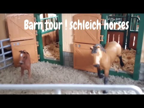 Barn tour ! schleich horses 2018 ,kristina kashytskby , new horse 2018, revenge, Paws by Claws