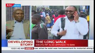 The long walk : Nairobi commuters forced to walk long distances to get to CBD