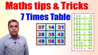 Learn 7 Times Multiplication Table   Easy and fast way to learn   Math Tips and Tricks   SumanTV