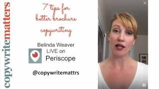 7 brochure copywriting tips: CWM Periscope Nov 2015