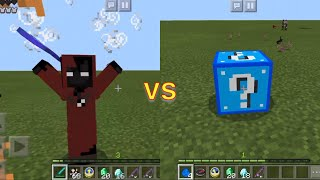 OVERPOWERED Blue Lucky Blocks Vs Entity 404 Boss In Minecraft PE