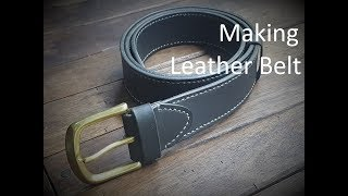 Making Leather Belt