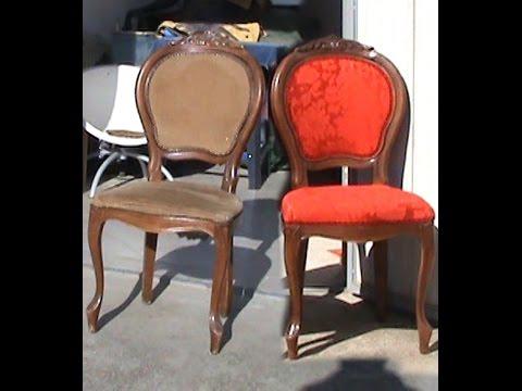 Stuhl neu mit polster und stoff bespannt (Part 2/2