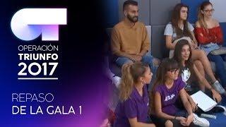 REPASO DE ACTUACIONES DE LA GALA 1 | OT 2017