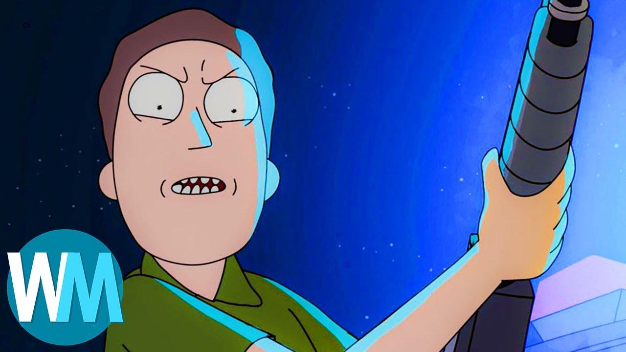 TOP 10 des fois où JERRY a été BADASS dans Rick et Morty !