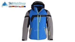 Spyder, Titan, ski-jas, heren, sea blauw/tfl grijs/zwart/acid geel