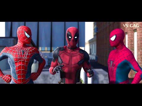 Spider-man: Homecoming VS AMAZING SPIDERMAN ft Deadpool (parody)