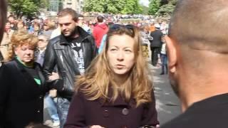 День победы-2017 Днепр, конфликт - георгиевская лента