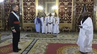 El nuevo embajador de Mauritania en España, Kane Boubakar, entrega a S.M. el Rey cartas credenciales