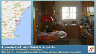 preview picture of video '4 dormitorios 3 baños Vivienda de pueblo se Vende en Country House, Los Montesinos, Alicante, Spain'