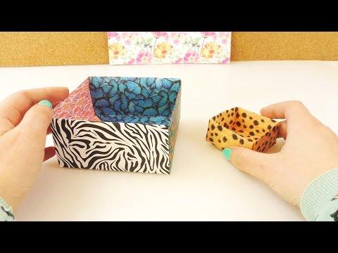 Große Aufbewahrungskiste falten | Origami Technik | einfach & schnell  DIY Geschenkbox selber machen
