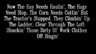 Brown Chicken, Brown Cow -Trace Adkins- Lyrics