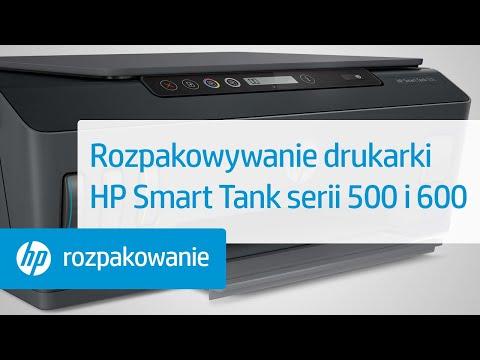 Rozpakowywanie drukarki HP Smart Tank serii 500 i 600