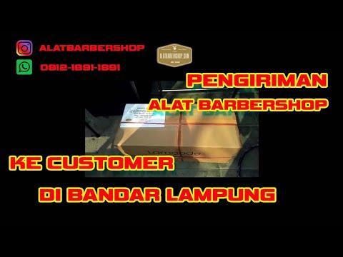 Pengiriman Alat Barbershop ke Customer di Bandar Lampung