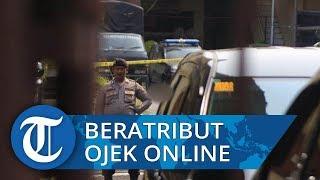 Terduga Pelaku Ledakan Bom di Polrestabes Medan Memakai Atribut Ojek Online