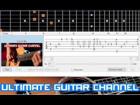 [Guitar Solo Tab] Let It Be (The Beatles) Mp3