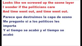 The Cranberries - Time is ticking out. Lyrics + Traducida