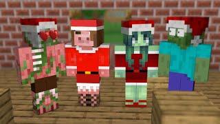 Monster School : Herobrine Dress Up As Santa Claus - Funny Minecraft Animation