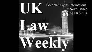 Goldman Sachs International V Novo Banco 2018 UKSC 34