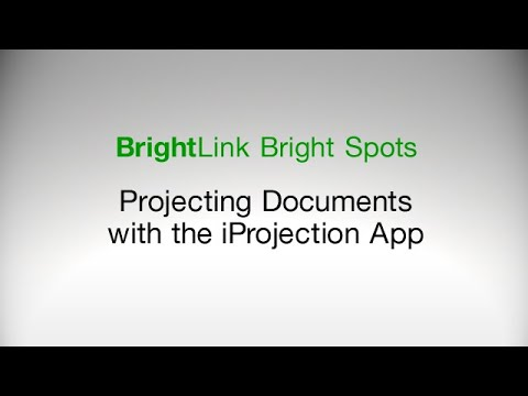 How To: Project Documents Using the Epson iProjection App