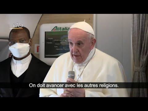 Conférence de presse du pape François dans l'avion de retour de l'Irak