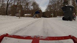 20140129_01 Sledding on Flexible Flyer - Raleigh Snow Day
