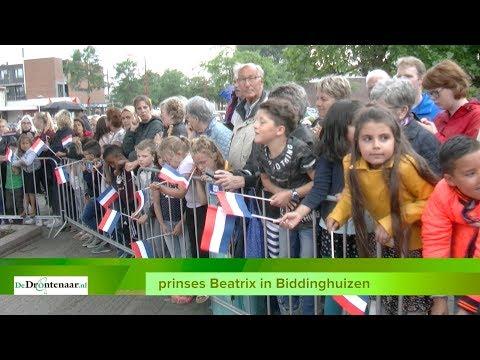 VIDEO | Vooral de schooljeugd van Biddinghuizen is enthousiast over komst prinses Beatrix