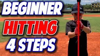 Coaching Beginner Baseball | Basic Hitting 4 Easy Steps (Pro Speed Baseball)