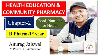 Nutrition And Health | Chapter-2 | Health Education & Community Pharmacy | D.Pharm 1St Year