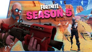 Season 5 Hype! All BattlePass Tiers, Map Changes, New Victory Royale! - Fortnite Season 5 Gameplay
