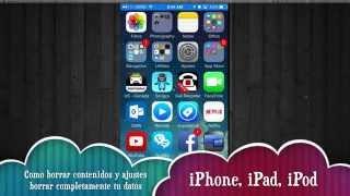 Como borra toda la información del iPhone iPad iPod sin computadora