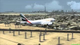 EMIRATES A330-200 landing in Dubai [FSX]