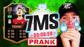 *HUGE FAIL* THE 7 MINUTE SQUAD BUILDER PRANK!!! - FIFA 20 ULTIMATE TEAM