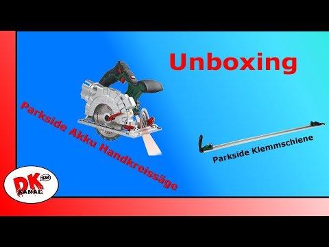 PARKSIDE #Unboxing Akku-Handkreissäge PHKSA 20-Li A1 + Klemmschiene