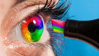 18 Weird Ways To Sneak Makeup Into Class / School Pranks!