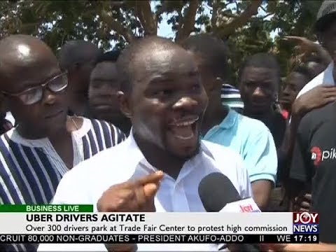 Uber Drivers Agitate - Business Live on JoyNews (2-5-18)